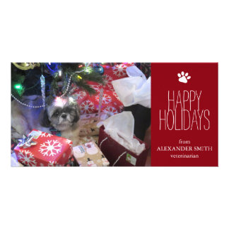 "Christmas Pet  8"" x 4"" Photo Card"
