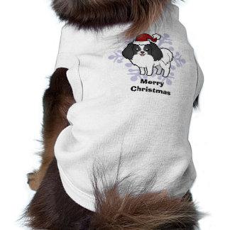Christmas Phalene / Japanese Chin Doggie Tshirt
