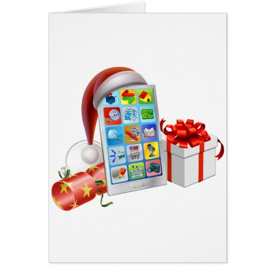 Christmas phone illustration card