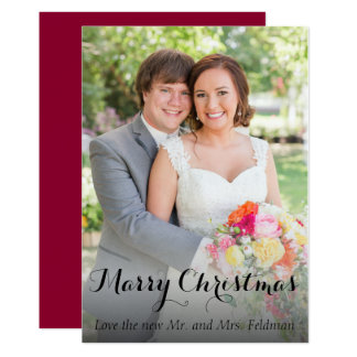 Christmas Photo Card- Just Married Card