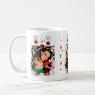Christmas Photo Custom Text Holiday Mug