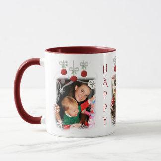 Christmas Photo Custom Text Holidays Mug