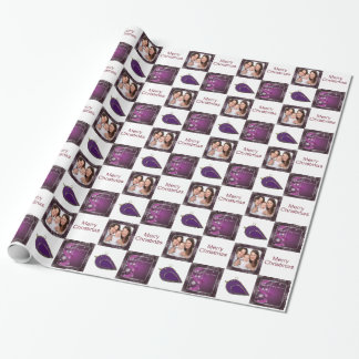 christmas photo customizable wrapping paper