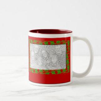 Christmas Photo Frame Two-Tone Coffee Mug
