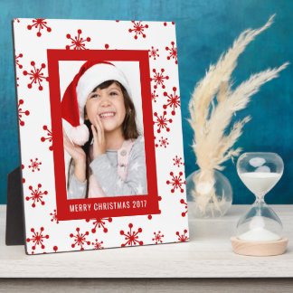 Christmas Photo | Holiday Snowflake Design Plaque