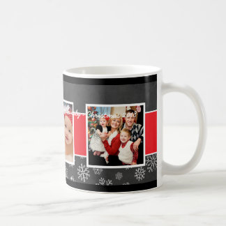 Christmas Photo Mug | Black Chalkboard Design
