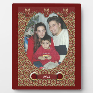 Christmas photo plaque victorian design