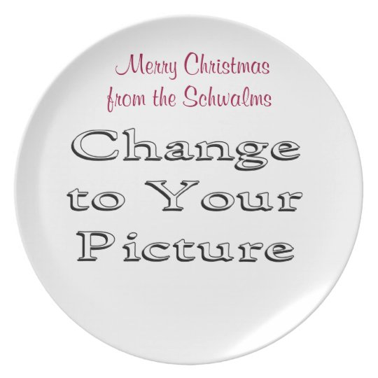Christmas Photo Plate- add your photo & words Plate