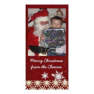 christmas photocard custom photo card