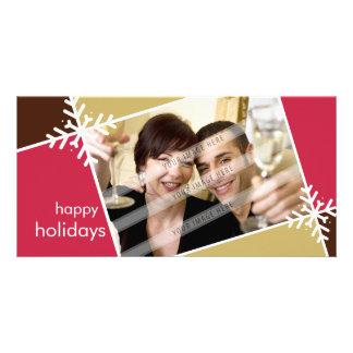 CHRISTMAS PHOTOCARD :: modernista snowflake L1 Card