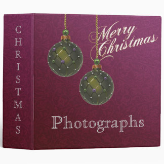 Christmas Photograph Avery Binder