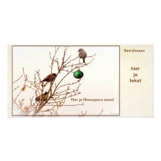 Christmas - photograph card - business card -