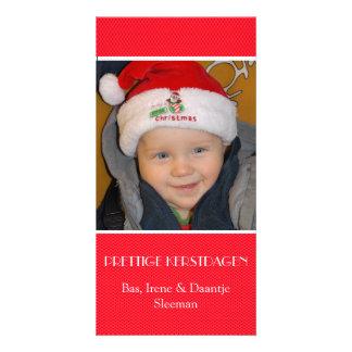 Christmas photograph card red edge