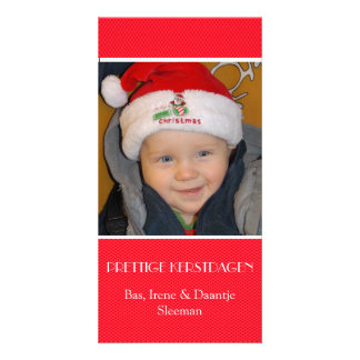 Christmas photograph card red edge photo card