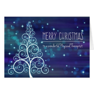 Christmas Physical Therapist, Bokeh Effect & Tree Card