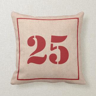 Christmas Pillow Cover - Rustic Burlap Look