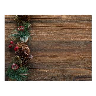 Christmas Pine Cone Garland Postcard