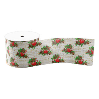 Christmas pine cones grosgrain ribbon