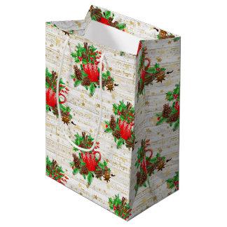 Christmas pine cones medium gift bag