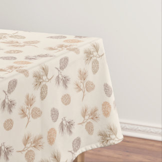 Christmas pine cones pattern - Xmas gifts Tablecloth