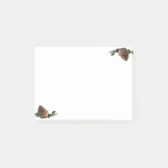 Christmas Pine Cones Post-it Notes