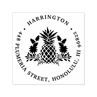 Christmas Pineapple | Holiday Return Address Self-inking Stamp