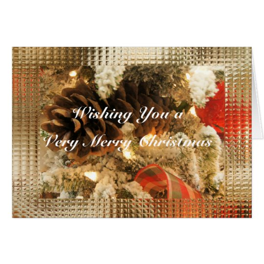 Christmas Pinecones- customize as deisred Card