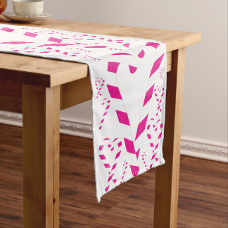 Christmas Pink Candy Cane Table Runner