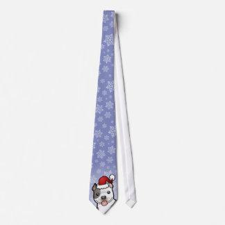 Christmas Pitbull / American Staffordshire Terrier Tie