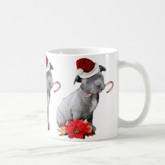 Christmas pitbull puppy coffee mug