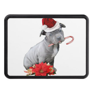 Christmas Pitbull puppy Hitch Covers