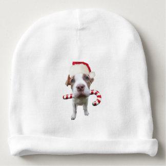 Christmas pitbull - santa pitbull -santa claus dog baby beanie