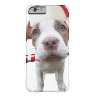 Christmas pitbull - santa pitbull -santa claus dog barely there iPhone 6 case