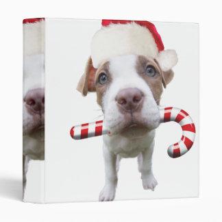 Christmas pitbull - santa pitbull -santa claus dog binder