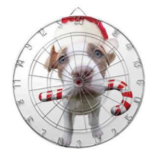 Christmas pitbull - santa pitbull -santa claus dog dartboard