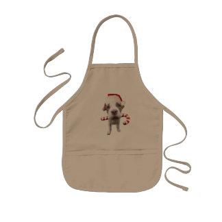 Christmas pitbull - santa pitbull -santa claus dog kids apron
