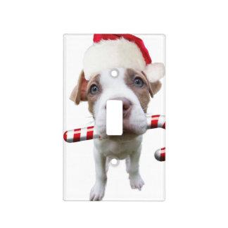 Christmas pitbull - santa pitbull -santa claus dog light switch cover