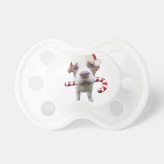 Christmas pitbull - santa pitbull -santa claus dog pacifier