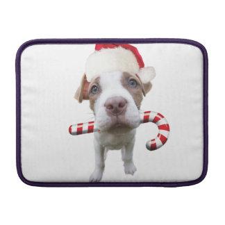 Christmas pitbull - santa pitbull -santa claus dog sleeve for MacBook air