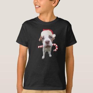Christmas pitbull - santa pitbull -santa claus dog T-Shirt