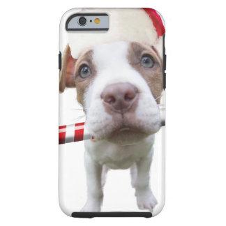 Christmas pitbull - santa pitbull -santa claus dog tough iPhone 6 case