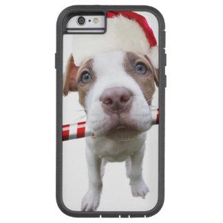 Christmas pitbull - santa pitbull -santa claus dog tough xtreme iPhone 6 case