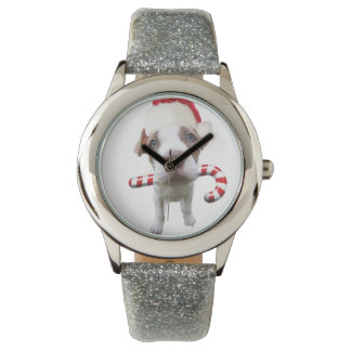 Christmas pitbull - santa pitbull -santa claus dog watch