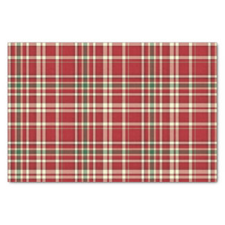 Christmas Plaid 17-TISSUE WRAPPING PAPER