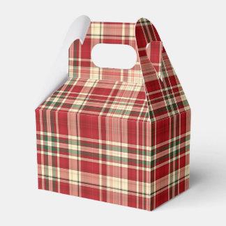 Christmas Plaid 23-PARTY FAVOR BOX, gable Favor Box