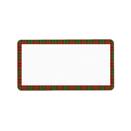 Christmas Plaid Address Labels
