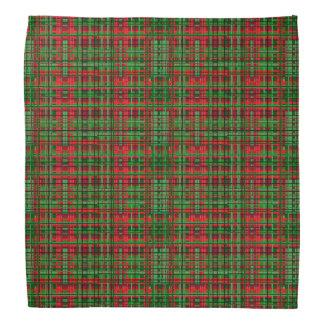 Christmas plaid bandanna