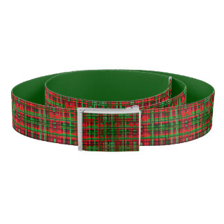 Christmas plaid belt