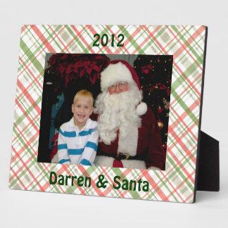 Christmas Plaid Custom Frame Plaque