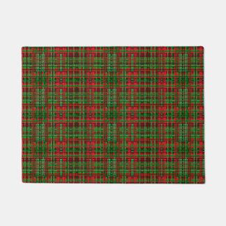 Christmas plaid door mat